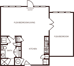 American Airlines Floor Plan Apartments In Carrollton Union At Carrollton Square