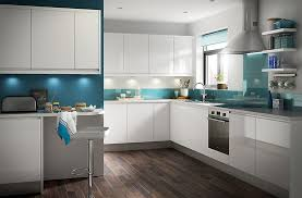 Kitchen Lights Bq - it marletti white gloss with integrated handle diy at bq norma