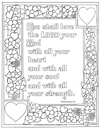 coloring pages kids adron deuteronomy 6 5 print