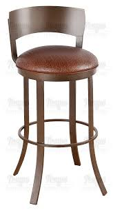 Bar Stool With Backrest Furniture Birkin Swivel Bar Stool With Metal Backrest