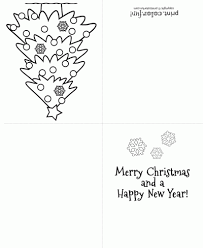 4 best images of printable holiday cards to color merry