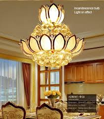 led dining room lighting flower glass gold led crystal chandeliers lights ceiling pendant