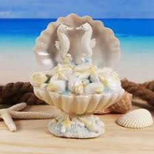 Seashell Centerpieces For Weddings by Beach Theme Aqua Seahorse Wedding Cake Topper Jeweled Seahorse
