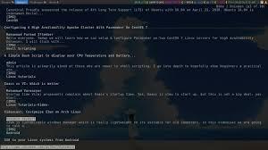 minimal tools on arch linux unixmen