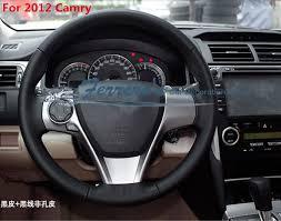 toyota corolla steering wheel cover sew on genuine leather car steering wheel cover car accessories