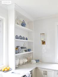 how to style open kitchen shelves citrineliving