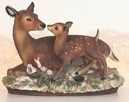 home interiors deer picture porcelain deer etsy