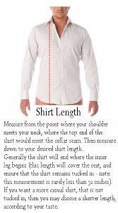 mens measurement profile made to measure custom dress shirt