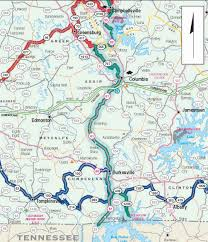 Taylorsville Lake Map Biking Trails U0026 Routes Across Kentucky