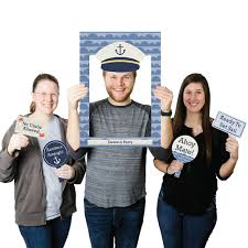 Baby Shower Picture Frames Ahoy Nautical Personalized Birthday Party Or Baby Shower Photo