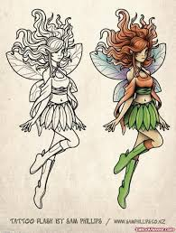 black and coloured fairy tattoo design tattoo viewer com
