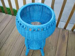 spray paint wicker basket blue u2014 jessica color diy spray paint
