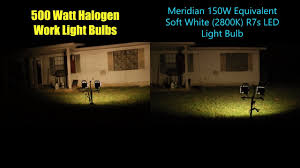 Led Flood Light Bulb Reviews by Meridian 150w Equivalent Soft White 2800k R7s Led Light Bulb