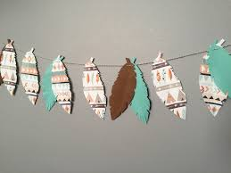 tribal banner tribal baby shower tribal birthday woodland