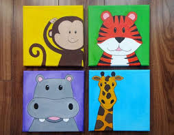 Best Kids Paintings Images On Pinterest Canvas Art Canvas - Canvas paintings for kids rooms
