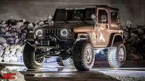 jeep wrangler rock lights led rock lights by rough country youtube
