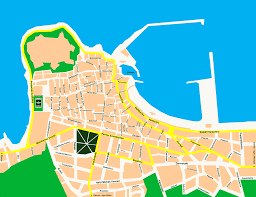 Map Of Crete Greece by City Map Of Rethymnon Crete Tournet Greece