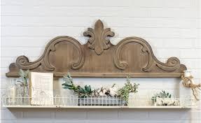 wooden scroll onlay wall décor appliques