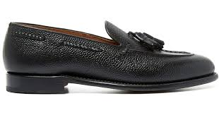 ugg rudyard sale lyst the coacher black tassel grain leather loafers