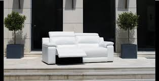 canape de relaxation canapé de relaxation en cuir blanc nevada mobilier de