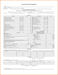 Personal Financial Statement Excel Template 9 Personal Financial Statement Template Excel Financial