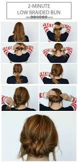 updos for long hair i can do my self low braided bun wish i could actually make my hair do these