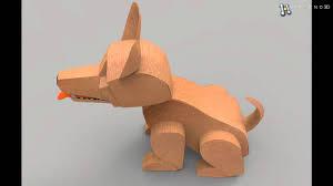 dog cardboard 3d model from creativecrash com youtube