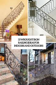 Outdoor Banisters And Railings 33 Wrought Iron Railing Ideas For Indoors And Outdoors Digsdigs