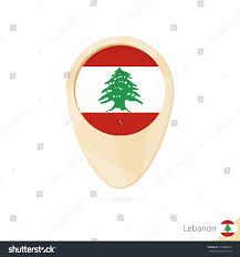 What Tree Is On The Lebanese Flag Map Pointer Flag Lebanon Orange Abstract Stock Vector 530988610