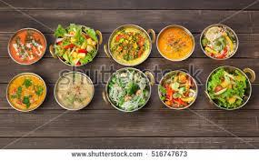cuisine vegetalienne vegan vegetarian restaurant dishes top view ภาพสต อก 516747673