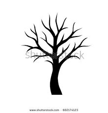 black vector simple tree without leaves stock vector 602174123