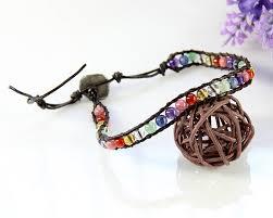 bracelet crystal string images Handmade single string wrap bracelet crystal green aventurine jpg