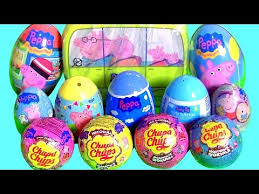 peppa pig toys surprise complete collection chupa chups surprise