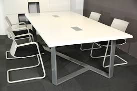 Large White Meeting Table White Modern Style Office Furniture Meeting Desk Conference Table