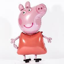 peppa pig helium airwalker balloon card factory