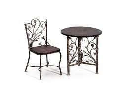 chaises fer forg table 2 chaises fer forgé bois fer chaise fer