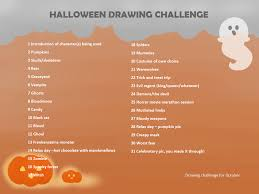 halloween drawing challenge u2013 festival collections