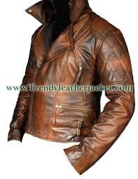 brown motorcycle jacket classic diamond biker brown distressed vintage leather jacket