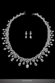 cubic zirconia necklace sets images Drina vintage luxury necklace set 80 carat cubic zirconia jpg