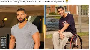 Rap Battle Meme - 20 hilarious memes on eminem vs drake rap battle