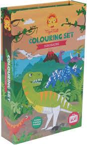 tiger tribe colouring dinosaur summer lane