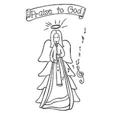 10 free printable cheerful angel coloring pages