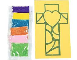 12 christian cross sand art kits for kids crafts
