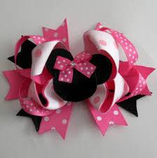girl hair bows pink minnie bow inspired hair bow