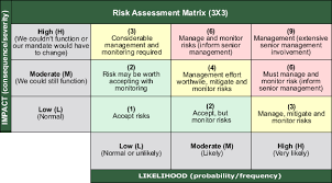risk description template form investment analysis report for asset projects at