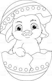 easter rabbit coloring stock vector art 513388030 istock