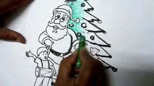 how to draw christmas pictures easy drawing youtube