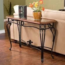 wood and iron sofa table wrought iron sofa table homesfeed