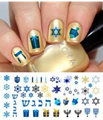 hanukkah nail midrash manicures hanukkah nail decals by midrash