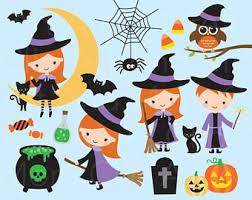cute halloween vampire clipar clip witch clip art etsy